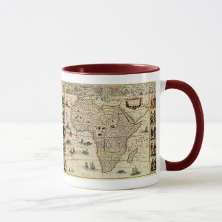 Vintage 1660's Africa Map by Willem Janszoon Blaeu Mug