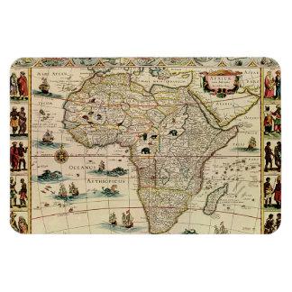 Vintage 1660's Africa Map by Willem Janszoon Blaeu Rectangular Photo Magnet