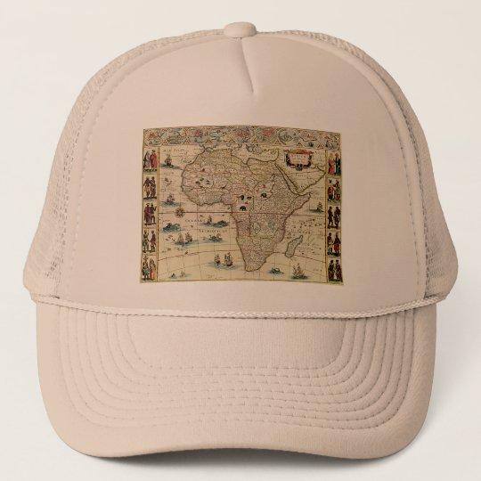 Vintage 1660's Africa Map by Willem Janszoon Blaeu Trucker Hat