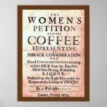 Vintage 1674 Women's Petition Against Coffee Print