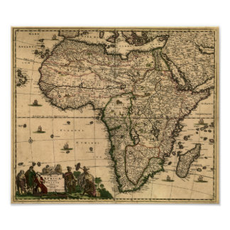Vintage Africa Map Posters Zazzle