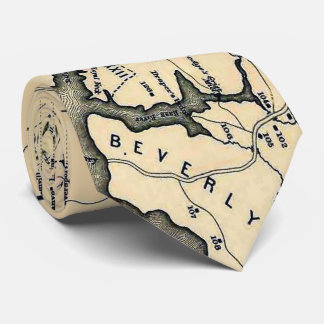 Vintage 1692 Map of Salem Massachusetts (1866) Neck Tie