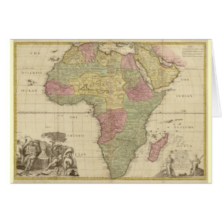 Vintage 1725 Africa Map Greeting Card