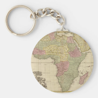 Vintage 1725 Africa Map Key Chains