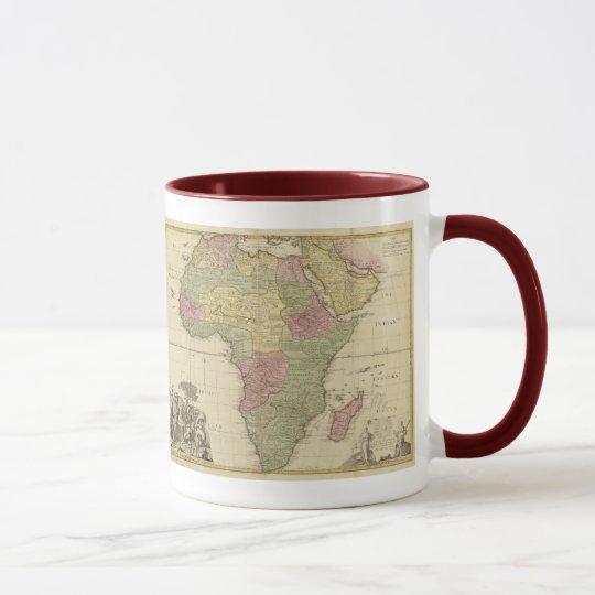 Vintage 1725 Africa Map Mug