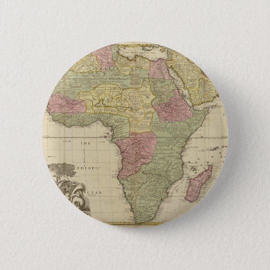Vintage 1725 Africa Map Pinback Button