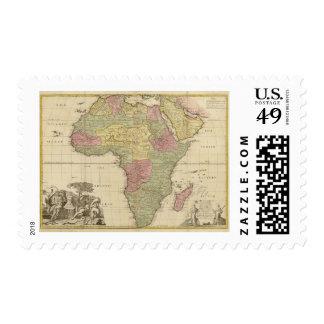 Vintage 1725 Africa Map Stamp