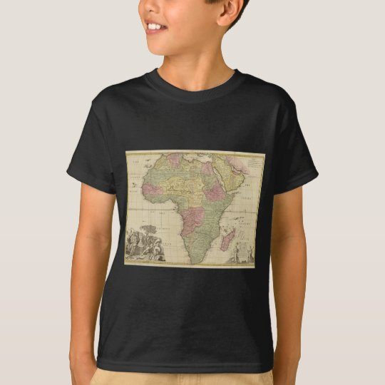 Vintage 1725 Africa Map T-Shirt