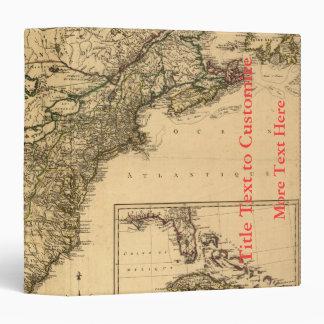 Vintage 1777 American Colonies Map by Phelippeaux 3 Ring Binder