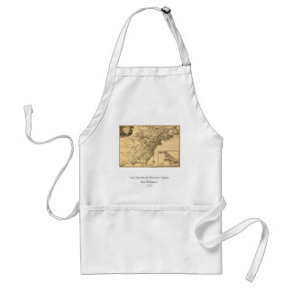 Vintage 1777 American Colonies Map by Phelippeaux Adult Apron