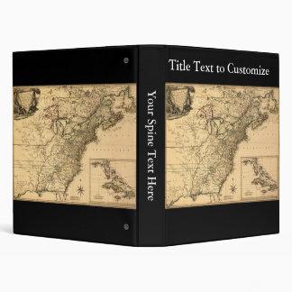 Vintage 1777 American Colonies Map by Phelippeaux Binder