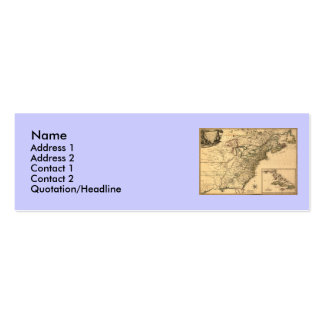Vintage 1777 American Colonies Map by Phelippeaux Business Card Templates