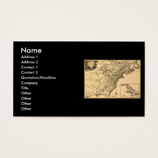 Vintage 1777 American Colonies Map by Phelippeaux Business Card