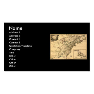Vintage 1777 American Colonies Map by Phelippeaux Double-Sided Standard Business Cards (Pack Of 100)