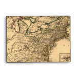 Vintage 1777 American Colonies Map by Phelippeaux Envelopes