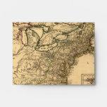 Vintage 1777 American Colonies Map by Phelippeaux Envelope
