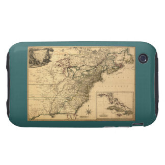 Vintage 1777 American Colonies Map by Phelippeaux iPhone 3 Tough Case
