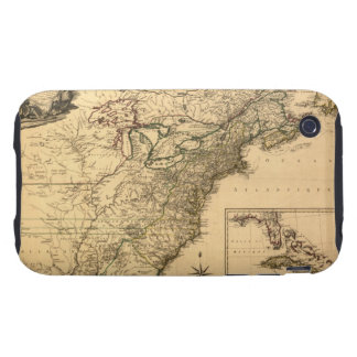 Vintage 1777 American Colonies Map by Phelippeaux iPhone 3 Tough Cover