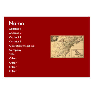 Vintage 1777 American Colonies Map by Phelippeaux Large Business Card