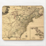 Vintage 1777 American Colonies Map by Phelippeaux Mouse Pad