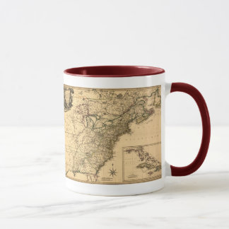 Vintage 1777 American Colonies Map by Phelippeaux Mug