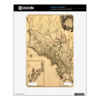 Vintage 1777 American Colonies Map by Phelippeaux Decals For Kindle
