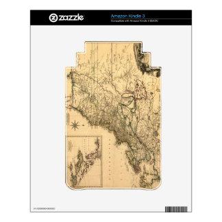 Vintage 1777 American Colonies Map by Phelippeaux Kindle Skins