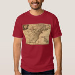 Vintage 1777 American Colonies Map by Phelippeaux T-Shirt