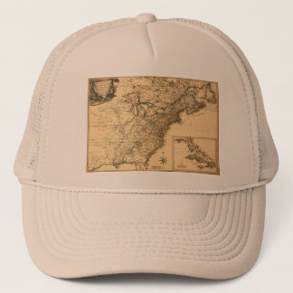 Vintage 1777 American Colonies Map by Phelippeaux Trucker Hat