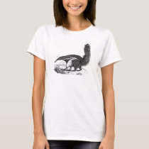 Vintage 1800s Aardvark Retro Ant Eater Template T-Shirt