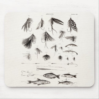 Vintage 1800s Angling Fly Fishing Flies Lures Lure Mouse Pad