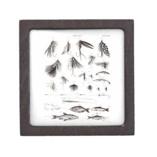 Vintage 1800s Angling Fly Fishing Flies Lures Lure Premium Keepsake Box