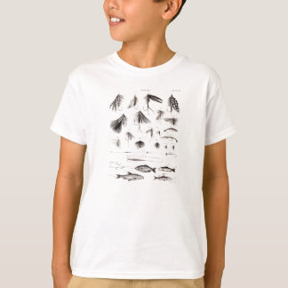 Vintage 1800s Angling Fly Fishing Flies Lures Lure T-Shirt