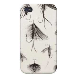 Vintage 1800s Angling Fly Fishing Flies Old Hooks iPhone 4/4S Covers