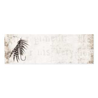 Vintage 1800s Angling Fly Fishing Flies Old Hooks Mini Business Card