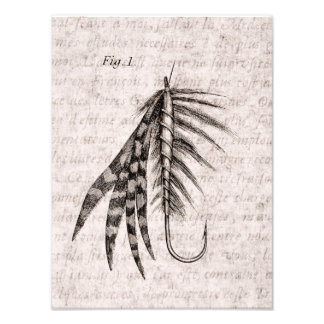 Vintage 1800s Angling Fly Fishing Flies Old Hooks Photo Print