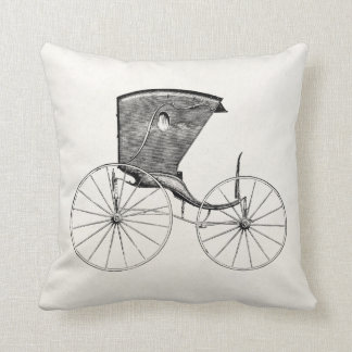 Vintage 1800s Antique Carriage Buggy Cart Coach Pillows