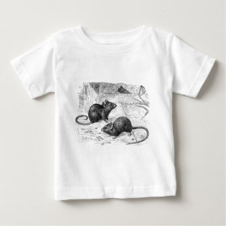 Vintage 1800s Barn Mouse Retro Mice Illustration Baby T-Shirt