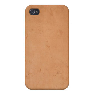 Vintage 1800s Brown Book Leather Tan Background iPhone 4 Case