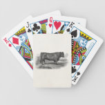 Vintage 1800s Bull Illustration Retro Cow Bulls Bicycle Poker Deck
