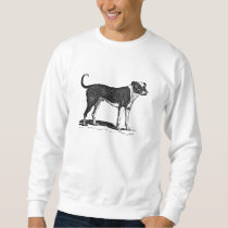Vintage 1800s Bulldog Dog Illustration - Dogs Sweatshirt