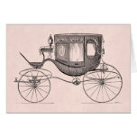 Vintage 1800s Carriage Horse-Drawn Antique Buggy Card