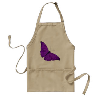 Vintage 1800s Dark Purple Butterfly Illustration Adult Apron