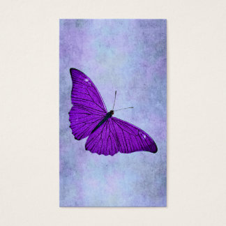 Vintage 1800s Dark Purple Butterfly Illustration Business Card