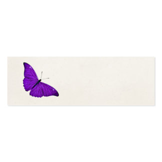 Vintage 1800s Dark Purple Butterfly Illustration Double-Sided Mini Business Cards (Pack Of 20)