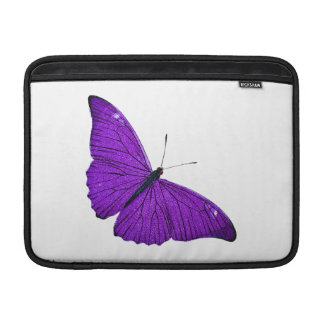 Vintage 1800s Dark Purple Butterfly Illustration MacBook Sleeve