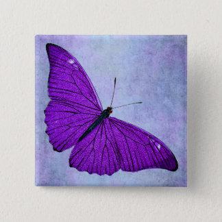 Vintage 1800s Dark Purple Butterfly Illustration Pinback Button