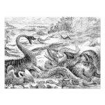 Vintage 1800s Dinosaur Illustration - Dinosaurs Photo Art