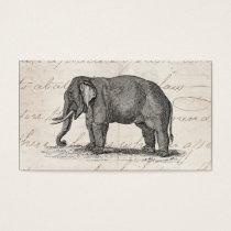 Vintage 1800s Elephant Illustration - Elephants