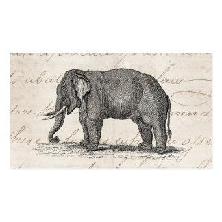 Vintage 1800s Elephant Illustration - Elephants Double-Sided Standard Business Cards (Pack Of 100)
